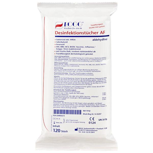 Rogg Desinfektionstücher AF Nachfüllpackung