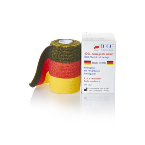 ROGG Kurzzugbinde kohäsiv als Deutschlandbinde